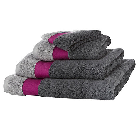 Ben de Lisi Home - Grey contrasting header cotton towels