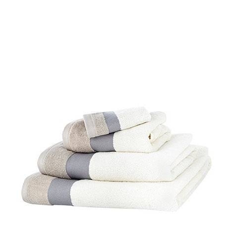 Ben de Lisi Home - Beige contrasting header cotton towels
