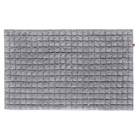 Ben de Lisi Home - Grey +Squares+ bath mat