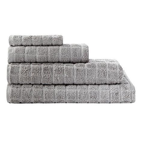 Ben de Lisi Home - Grey +Squares+ cotton towels