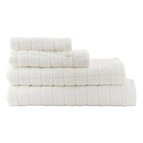 Ben de Lisi Home - White +Squares+ cotton towels