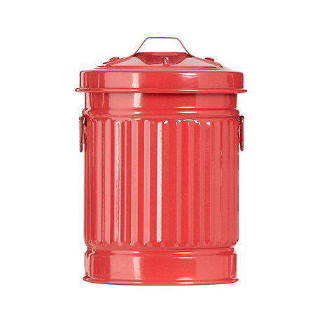 Ben de Lisi Home - Red mini dustbin