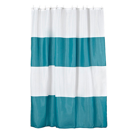 Ben de Lisi Home - Dark turquoise colour block shower curtain