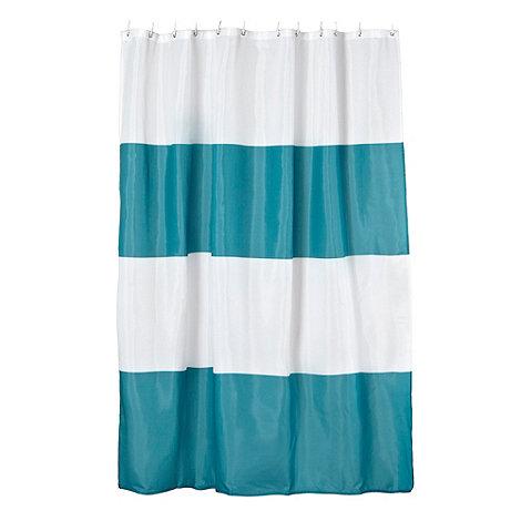 Ben de Lisi Home - Dark turquoise colour block shower curtain
