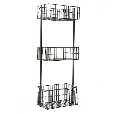 Ben de Lisi Home - Grey three-tiered wire caddy