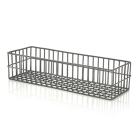 Ben de Lisi Home - Grey wire hanging bathroom tray