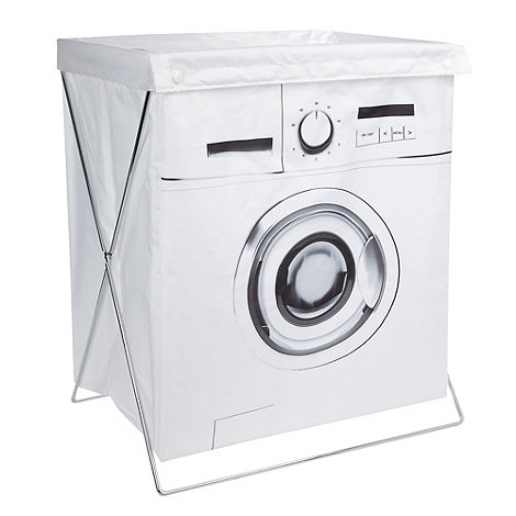 Ben de Lisi Home - White collapsible washing machine laundry bin