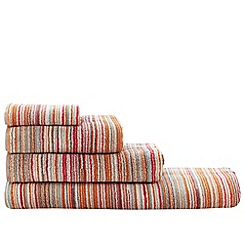 Ben de Lisi Home - Orange 'Broken Stripe' towels
