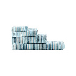 Ben de Lisi Home - Blue 'Broken Stripe' towels