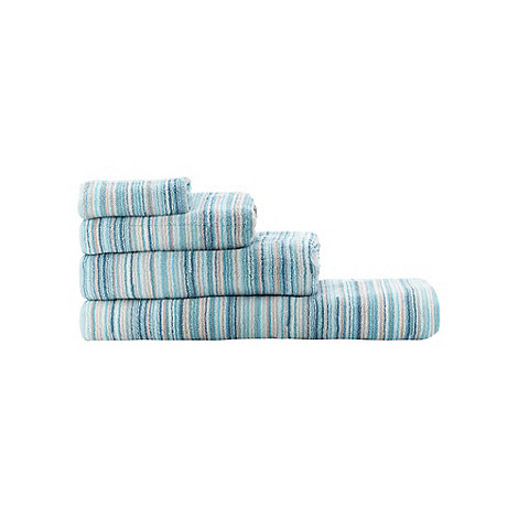 Ben de Lisi Home - Blue +Broken Stripe+ towels