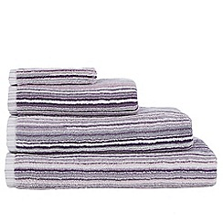 Ben de Lisi Home - Designer mauve striped towels
