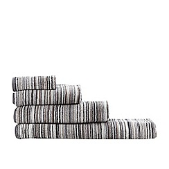 Ben de Lisi Home - Grey 'Broken Stripe' towels