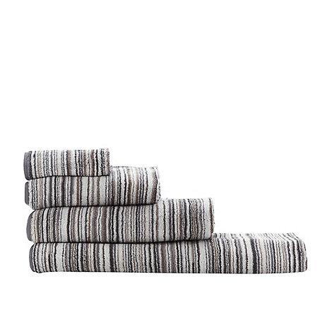 Ben de Lisi Home - Grey +Broken Stripe+ towels
