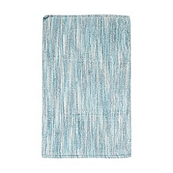 Ben de Lisi Home - Blue broken striped reversible bathmat