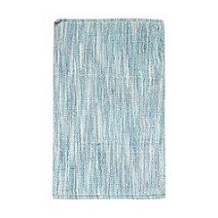 Ben de Lisi Home - Blue broken striped reversible bathmat