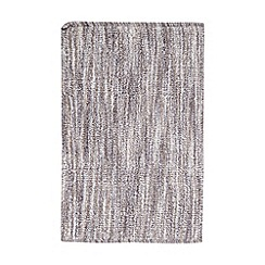 Ben de Lisi Home - Grey broken striped reversible bathmat