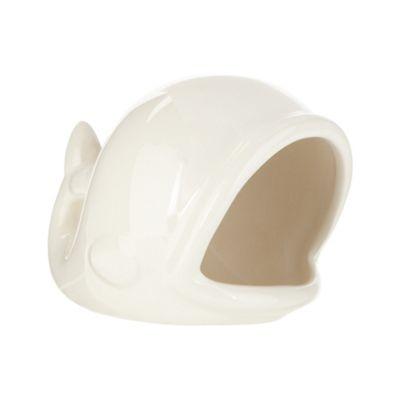 Designer White Ceramic Whale Soap Dish