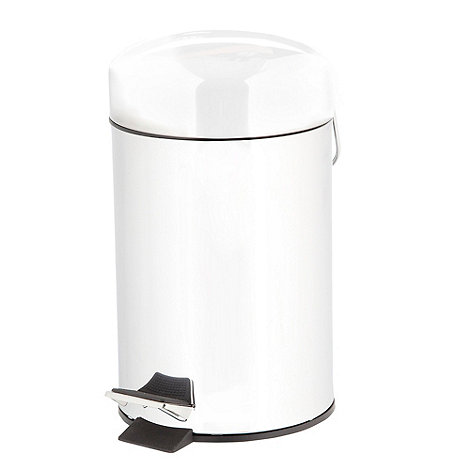 Home Collection Basics - Silver pedal bin