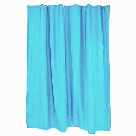 Home Collection Basics - Turquoise shower curtain