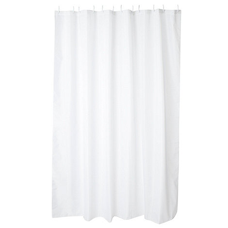 Home Collection Basics - White essential shower curtain
