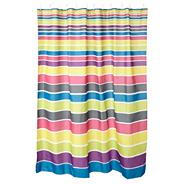 Multi colour striped shower curtain