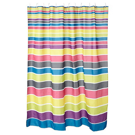 Home Collection Basics - Multi colour striped shower curtain
