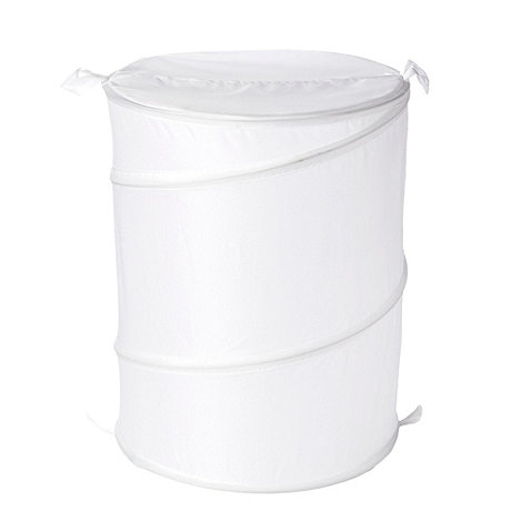 Home Collection Basics - White pop-up laundry basket