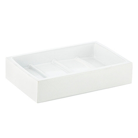 Home Collection Basics - White resin soap dish