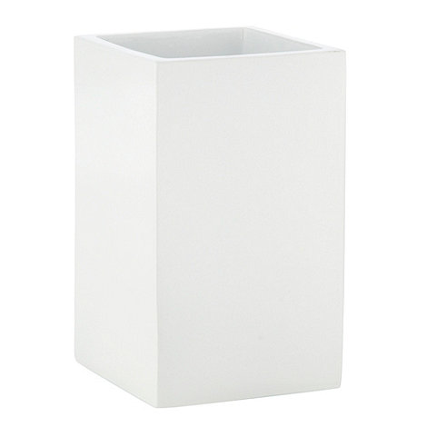 Home Collection Basics - White square resin tumbler