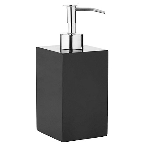 Home Collection Basics - Black square resin soap dispenser