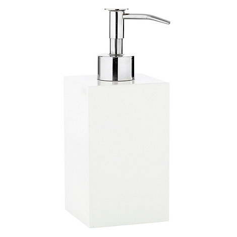 Home Collection Basics - White square resin soap dispenser