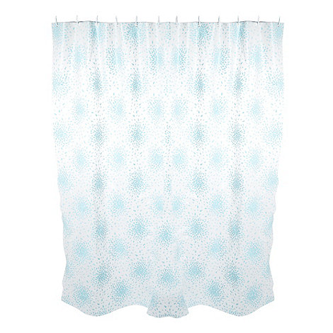 Home Collection Basics - Light blue petal print shower curtain