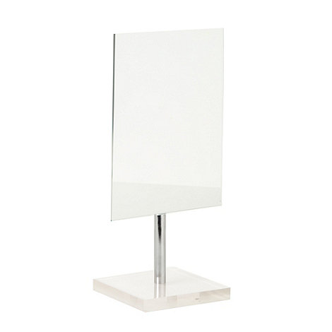 Home Collection Basics - White stand desk mirror
