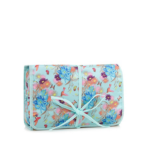 Butterfly Home by Matthew Williamson - Designer aqua hummingbird travel washbag
