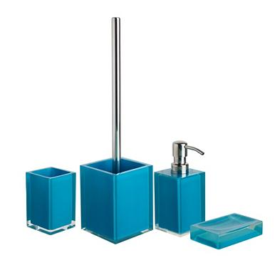 Teal bathroom accessories for Teal bath sets