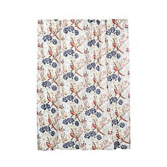 Butterfly Home by Matthew Williamson - Pink peacock flower shower curtain