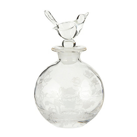 Butterfly Home by Matthew Williamson - Small rounded peacock patterned perfume bottle