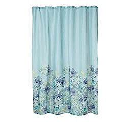 Butterfly Home by Matthew Williamson - Turquoise peacock patterned shower curtain