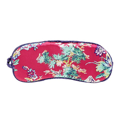 Butterfly Home by Matthew Williamson - Designer pink blossom printed eye mask