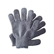 Bamboo carbonized exfoliating shower gloves