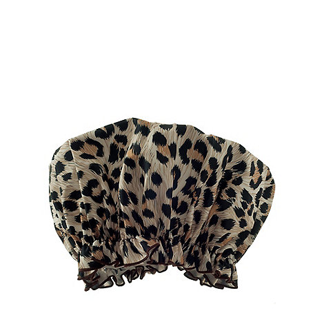 Hydrea London - Leopard print PEVA shower cap