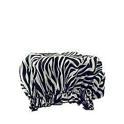 Hydrea London - Zebra print PEVA shower cap