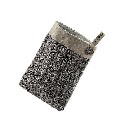 Hydrea London - Grey linen exfoliating mitt