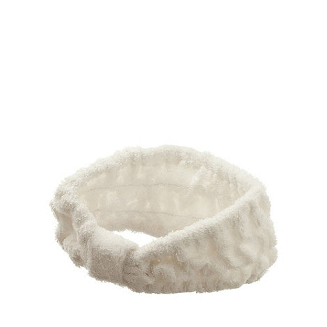 Hydrea London - Cream bamboo and cotton headband