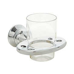 Sabichi - Chrome plated wall mounted tumbler holder