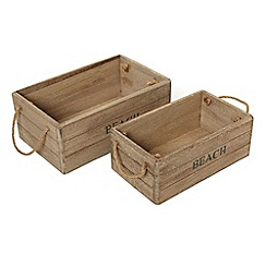 Gisela Graham - Set of Two Wooden Crates
