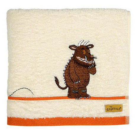 Christy - Cream embroidered +Gruffalo+ cotton towels