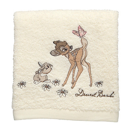 Disney - Cream embroidered +Bambi+ cotton towel