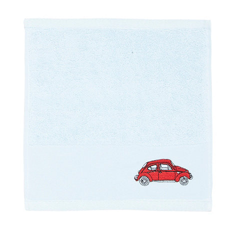 Harlequin - Blue embroidered car cotton towels
