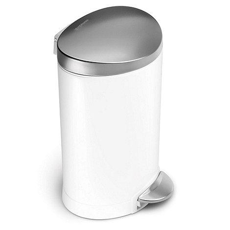 Simplehuman - White 6 litre pedal bin